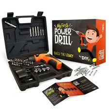 My First Power Drill Set with Case - Real Cordless Drill for Boys and Girls
