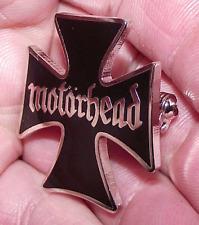 BADGE PIN  MOTORHEAD IRON CROSS LEMMY KILMISTER HEAVY METAL ROCK MUSIC OLD BAND