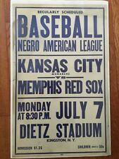 New listing Original 1940s Negro league colored Baseball Broadside poster 22x14 KC MONARCHS