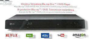 LG BP350 Smart Blu-Ray DVD Player with Built-In Wi-Fi Black