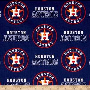 MLB Houston Astros 6682-B Cotton Fabric by the Yard