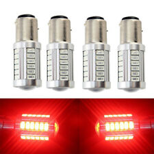 4x Red 1157 BAY15D 33SMD Car LED Bulbs Turn Tail Brake Stop Backup Signal Light