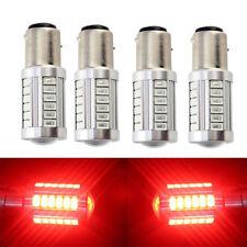 4pcs Red 1157 BAY15D 33SMD Car LED Bulb Turn Tail Brake Stop Backup Signal Light