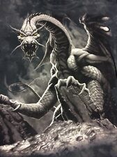 Vintage The Mountain All Over Print Dragon T Shirt Size Rare Skull Spooky