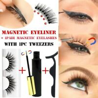 Magnetic liquid Eyeliner False Eyelashes A Tweezer Set Eye Lashes Waterproof Kit