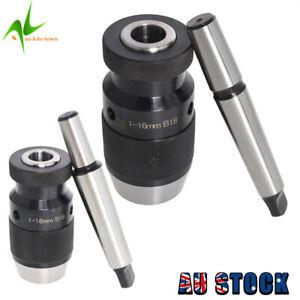 MT2/MT3-B18 1-16mm Keyless Precision Self Tighten Lathe Drill Chuck+Taper Arbor