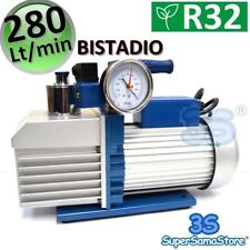 3S POMPA del VUOTO ALTO BISTADIO 280 Lt/min IMPIANTI R32 R410A + ELETTROVALVOLA