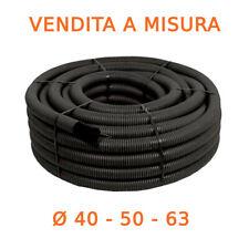 Tubo corrugato cavidotto 40/50/63 doppia parete int liscio c/tira filo A MISURA