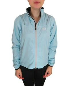 Pearl Izumi Women's Cycling Bike Wind Jacket Jersey Medium Blue Long Sleeve Zip
