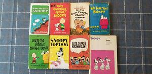 PEANUTS - SNOOPY ~ LOT 8 PB BOOKS ~ CHARLES SCHULZ ~ CARTOONS - COMIC STRIPS!!