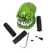 Crâne Tête Mort Manuel Pommeau de Levier de Vitesse Voiture Universel Vert