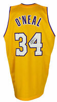 Shaquille O'Neal Signed Custom Yellow Pro Style Basketball Jersey BAS ITP