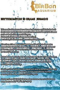 Erythromicin 10 Gram (500mg/g) Antibioticc Fish & Aquariums Tank Health Disease