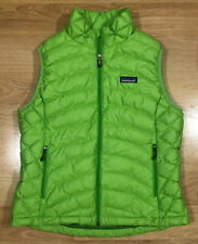 Womens PATAGONIA Down Sweater Vest Size Medium Lime Green