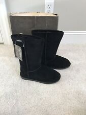 Bearpaw Boots Size 7 Womens Black Emma Style Shoes New