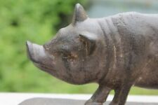 New Cast Iron Boar Pig Figurine Doorstop by Audrey's