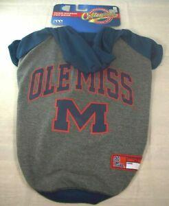 "(NCAA) University of Mississippi ""Ole Miss"" Rebels Hoodie (Pet, Dog) Medium"
