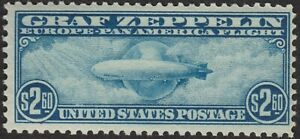 1930 $2.60 GRAF ZEPPELIN #C15; F-VF, LIGHTLY HINGED, SOUND AND PRETTY! $525 CAT.