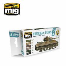 Ammo by Mig Acrylic Set- Sherman Tanks Vol. 3 (WWII US Marine Corps) A.MIG-7171