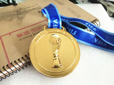 HQ 2018 Russia FIFA World cup Gold Medal with Commemorative Ribbon Collection