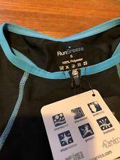 Run Breeze Womens Small Triathlon Skin Suit Black/Blue/New With Tags
