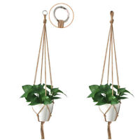 Pot holder macrame plant hanger hanging planter basket jute braided rope Fad fc