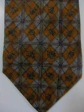 NEW $165 Ermenegildo Zegna Gray and Dark Gold Diamonds Tie Made in Italy