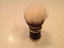 Vintage Barber Shaving Brush Shave Men's Travel? Metal Handle Animal Hair NICE