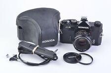 EXC++ KONICA FTA 35mm BODY w/52mm F1.8 LENS, CAP, UV, STRAP, CASE, CR, ACCURATE!