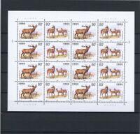China VR ZD Bogen MiNr. 3012-13 postfrisch MNH Hirsch (GG1416