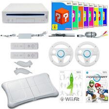Wii MegaSet  Konsole Remote NEU Lenkrad  Mario Kart  Wii Fit Board 9 Spiele