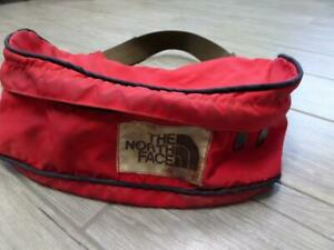 1990s vintage NORTH FACE red FANNY PACK backpack bag BROWN LABEL