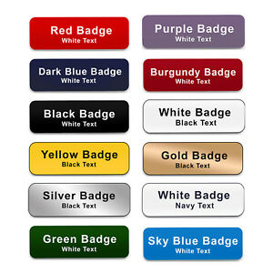COMBI CLIP & PIN Custom Engraved Name Badge Doctors Surgery Corporate ID Tags