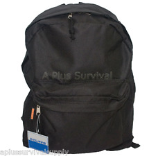 Black Backpack with 2 Compartments for School Emergency Survival Bug Out Kit