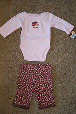"NWT Carter's 2 pc set LS Embroidered Porcupine ""Hug Me"" bodysuit pants Newborn"