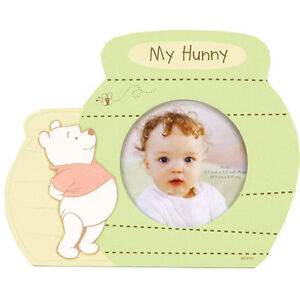Disney WINNIE THE POOH My Hunny Photo Painted Wood Picture Frame NEW!!