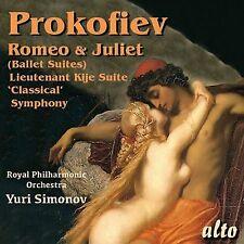CD PROKOFIEV ROMEO & JULIET CLASSICAL SYMPHONY LIEUTENANT KIJE SUITE RPO SIMONOV