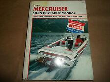1986-1994 Clymer Mercruiser Stern Drive Shop Manual Alpha Bravo Two Three B742 x