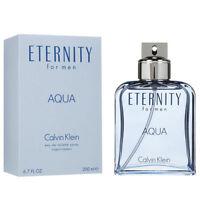 ETERNITY AQUA by Calvin Klein for Men Cologne 6.7 oz edt New in Box