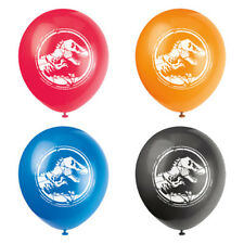JURASSIC WORLD Fallen Kingdom LATEX BALLOONS (8) ~ Birthday Party Supplies Dino