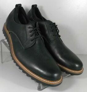 5940724 MS50 Men's Shoes Size 11.5 M Black Leather Lace Up Johnston & Murphy
