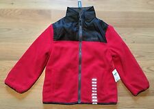NWT Boy's OSHKOSH Red Black Fleece Microtech Full Zip Reversible Jacket Size 2T