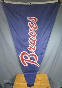 """Vintage 1995 Atlanta Braves Baseball Stadium Flag Team Signed World Series 82""""L"""