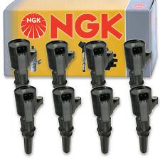 8 pcs NGK Ignition Coil for 1997-2010 Ford F-150 5.4L 4.6L V8 - Spark Plug np