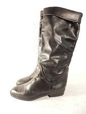 BALLY Stiefel Gr 38 schwarz Innenleder sehr weiches Leder