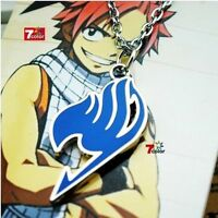 Hot Sale Anime FAIRY TAIL Natsu Dragneel Guild Cosplay Pendant Necklace Blue
