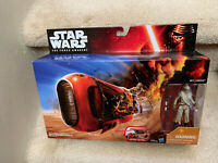 Rey's Speeder Star Wars The Force Awakens Vehicle Rey Jakku Hasbro NIB Disney