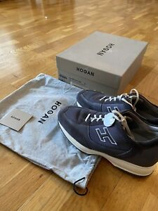 Hogan Interactive sneakers, Blue, size UK9, EU44 US10 With Box And Shoe Bag