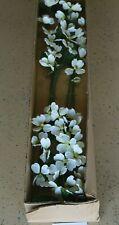 "#130 Artificial Silk Cornus Dogwood 36"" Flowers Stem White 6 Pieces"