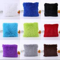 Soft Fur Plush Square Throw Pillow Cases Home Decor Sofa Waist Cushion Cover